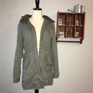 Green Army Parka Coat
